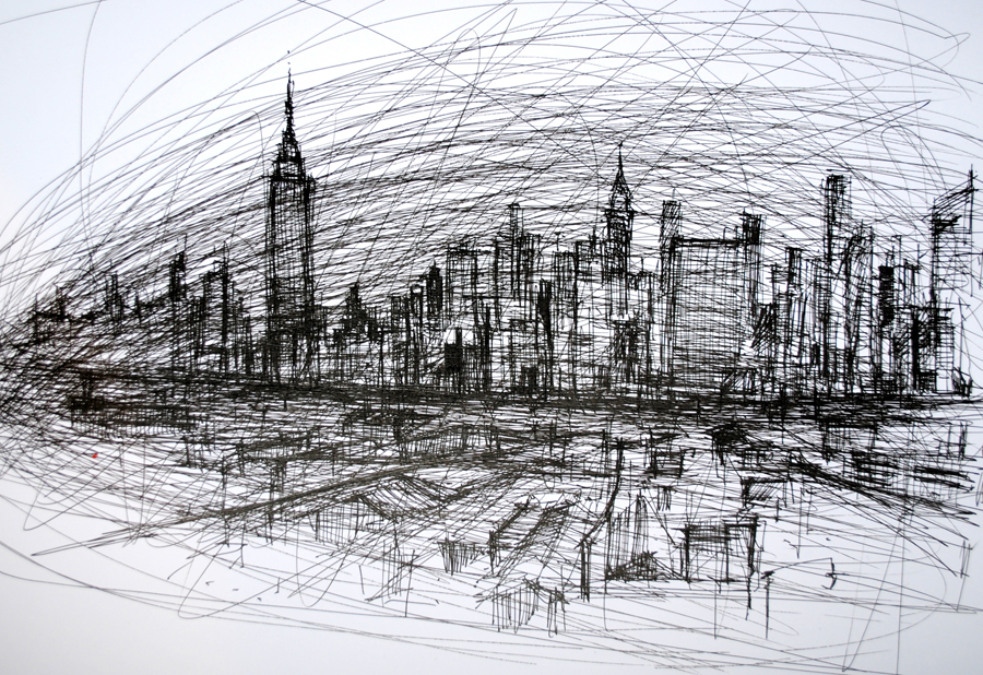 Picture, New York Art, NYC Skyline, Skyline, Art, Abstract NYC