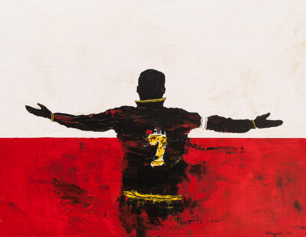 Picture, Eric Cantona, painting, poster, print, man united, manchester united