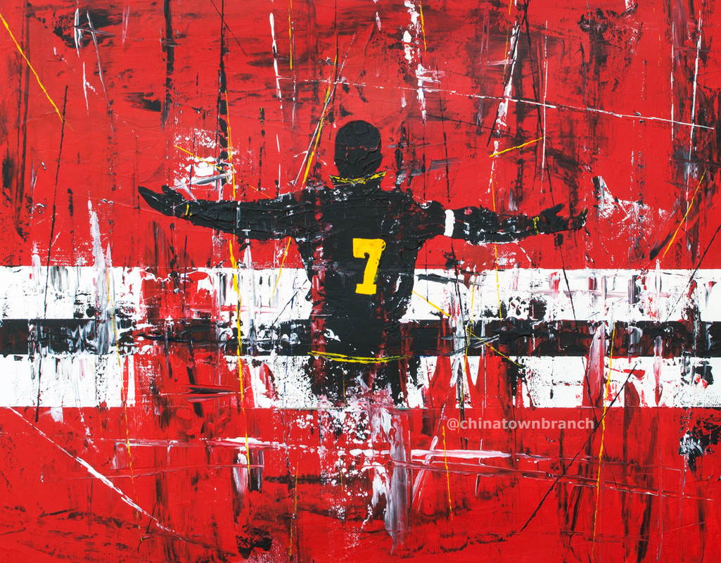 Picture Eric Cantona, Art, Painting, Man United Poster, Manchester United
